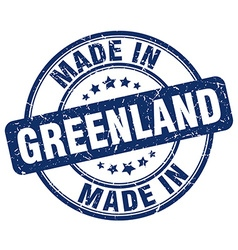 made in Greenland vector image
