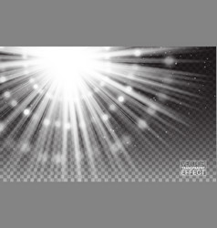 Magic effect white rays light flare vector