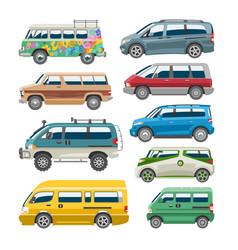 minivan car van auto vehicle family minibus vector image