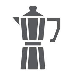 Moka pot glyph icon coffee and cafe coffeemaker vector