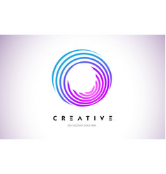 o lines warp logo design letter icon made vector image