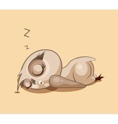 Owl a sleep vector image