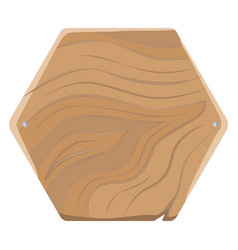 Pentagonal wooden board for advertising with nails vector