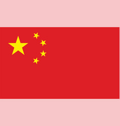 peoples republic china standard flag vector image