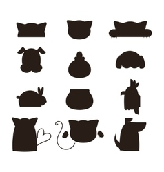 Pet shop symbols vector image