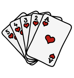 poker royal flush vector image