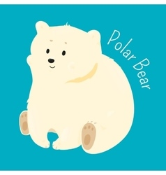 Polar bear isolated Child fun pattern icon vector