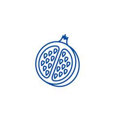 pomegranate line icon concept pomegranate flat vector image