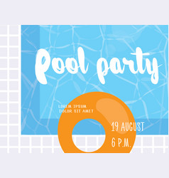 Pool party poster design template vector