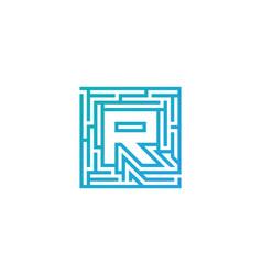 r maze letter logo icon design vector image