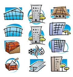 Real estate and construction icons vector image