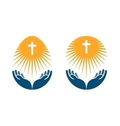 Religion logo Church Pray or Bible icon vector image