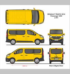 Renault trafic passenger van l1h1 2014 vector