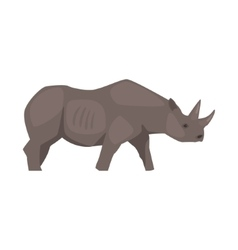 Rhinoceros Realistic Simplified Drawing vector image