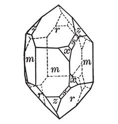Right handed quartz vintage vector