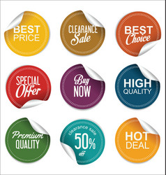 sale price tag collection 2 vector image