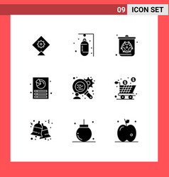 Set 9 modern ui icons symbols signs for box vector