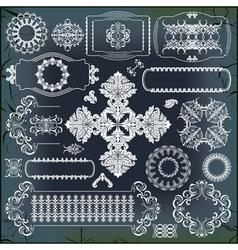 Set baroque ornaments vector
