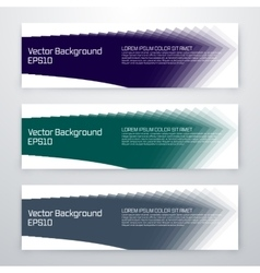 Set of 3 blue web banners vector image