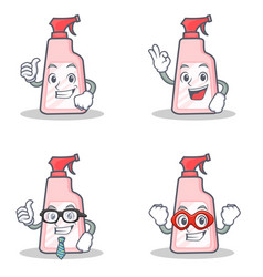 Set of cleaner character with proud okay vector