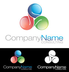 Social media community Company icon logo vector image