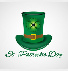 st patrick day leprechaun hat vector image