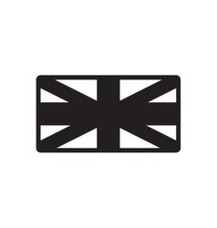 Stylish black and white icon British flag vector