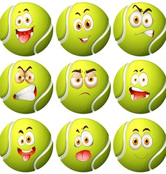 Tennis ball with facial expression vector image