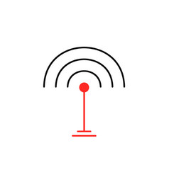 Thin line wifi signal icon isolated on white vector
