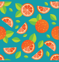 tiled seamless pattern of cartoon orange slices in vector image