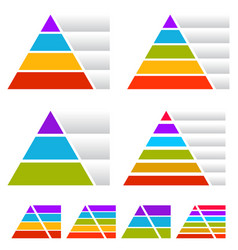Triangle pyramid charts with banners vector