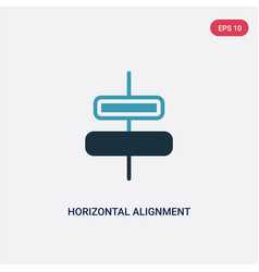 Two color horizontal alignment icon from user vector