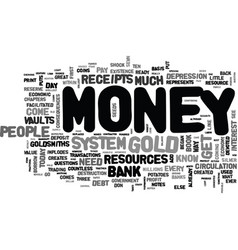 where does money come from text word cloud concept vector image