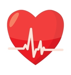 Heartbeat icon in cartoon style vector image