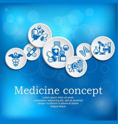 medical concept medicine vector image
