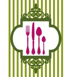 restaurant card vector image