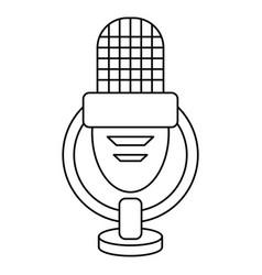 retro microphone voice thin line vector image