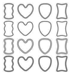 set of isolated frames of twisted rope vector image vector image