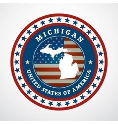 Vintage label Michigan vector image vector image