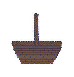 basket empty object vector image