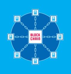 blockchain network computer technology vector image vector image