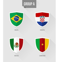 Brazil Soccer Championship 2014 Group A flags vector image vector image
