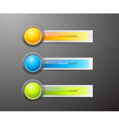 Buttons and labels vector image vector image
