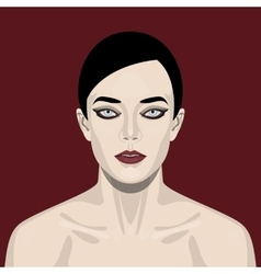 Fashion beauty Woman with smoky Eyes vector image