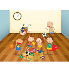 kids playing in a room vector image