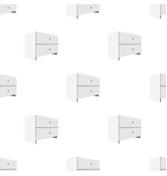 white bedside table with two drawersroom vector image