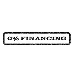 0 percent financing watermark stamp vector image
