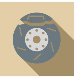 Brake disc icon flat style vector