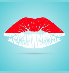 indonesia flag lipstick on the lips isolated on a vector image vector image