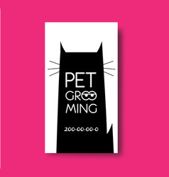 pet grooming business card design template with vector image vector image